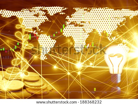 Gold stock background - stock photo