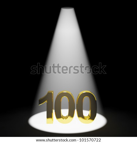 Gold 100th 3d Number Representing Anniversary Or Birthdays - stock photo