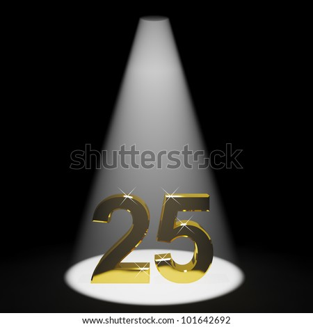 Gold 25th 3d Number Representing Anniversary Or Birthdays - stock photo