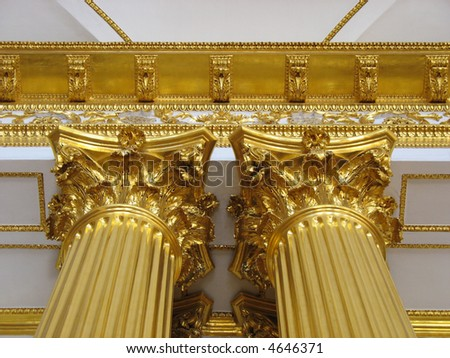 Gold tower in the palace - stock photo