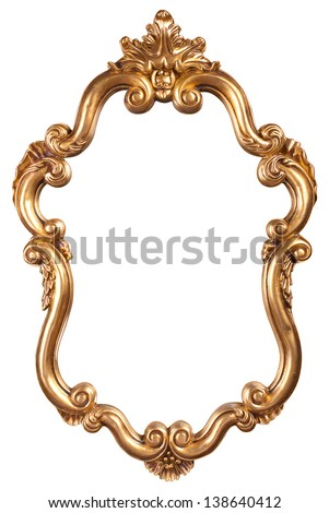 gold vintage frame - stock photo