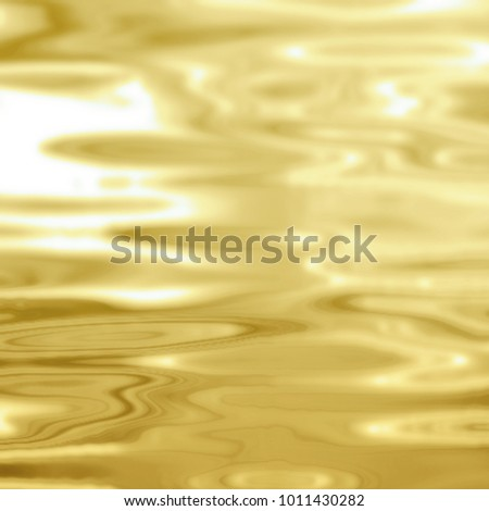 Gold water background - abstract luxury concept