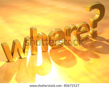 Gold where text - stock photo