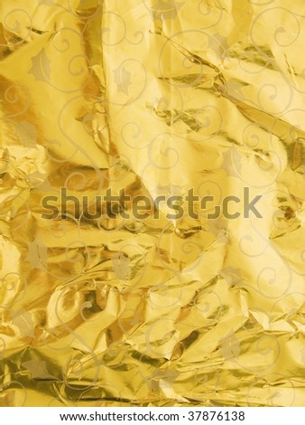 Gold Wrapping Paper - stock photo