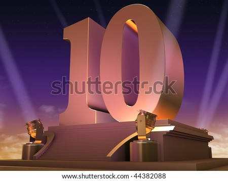 golden 10 - stock photo