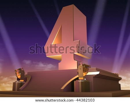 golden 4 - stock photo