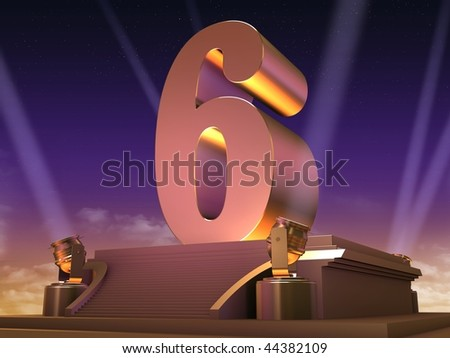 golden 6 - stock photo