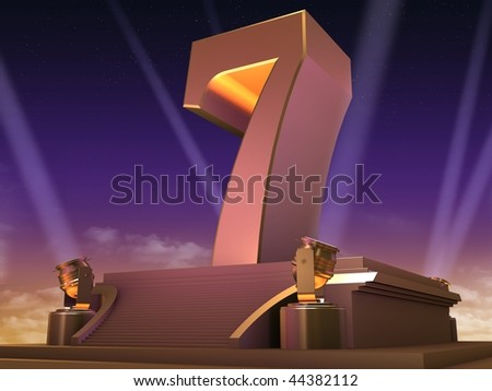 golden 7 - stock photo