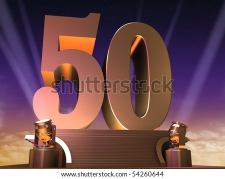 golden 50 - stock photo
