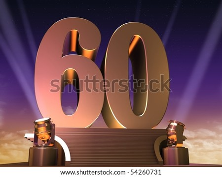 golden 60 - stock photo