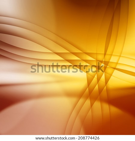 golden abstract background with crossed lines - stock photo