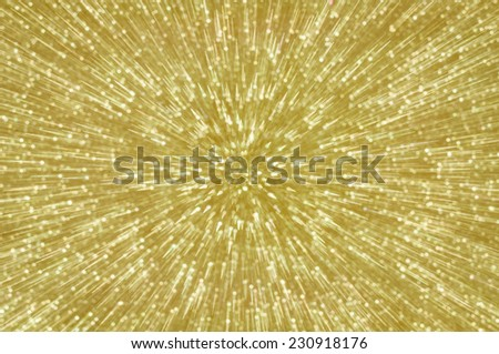 golden abstract explosion lights background - stock photo