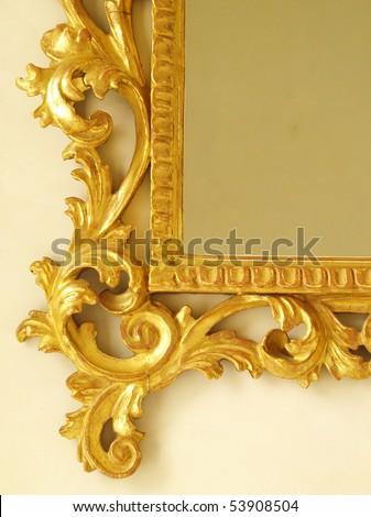 golden antique mirror frame molding - Mirror Frame Molding