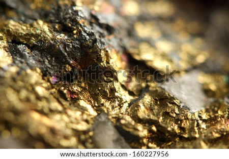 Golden background. Macro  - stock photo