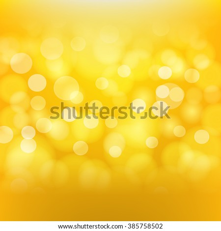 Golden background with blurred light effects. raster