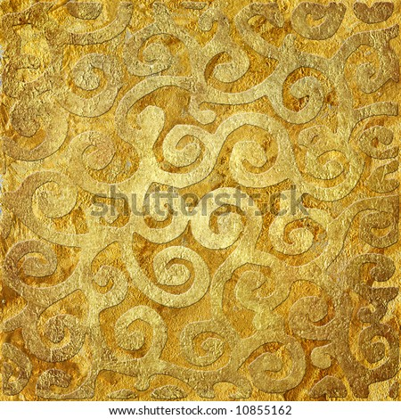 golden background with patterns