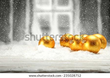 golden balls  - stock photo