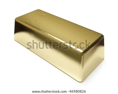 Golden bar - stock photo