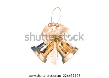 Golden Bell isolated on white background - stock photo