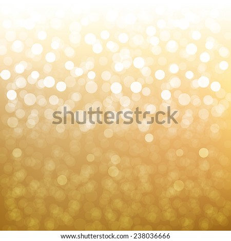 Golden Bokeh  - stock photo