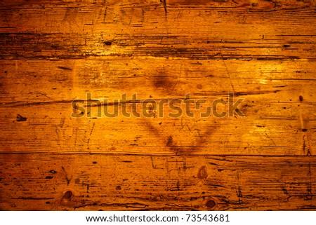 Golden brown wooden texture - stock photo