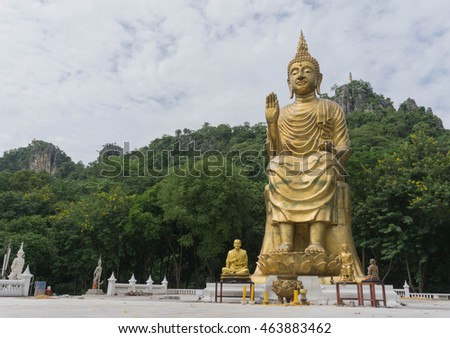 Golden Buddha sitting