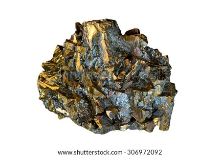 Golden chalcopyrite from Romania.