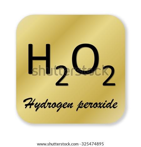 Golden Chemical Formula Hydrogen Peroxide Symbol Stock Illustration