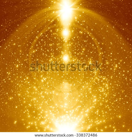 Golden christmas abstract background