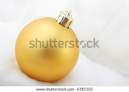 golden christmas ornament