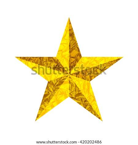 Golden Christmas Star - stock photo