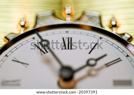Golden Clock - stock photo