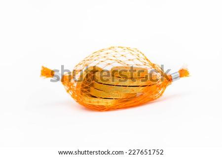 Golden coin - stock photo