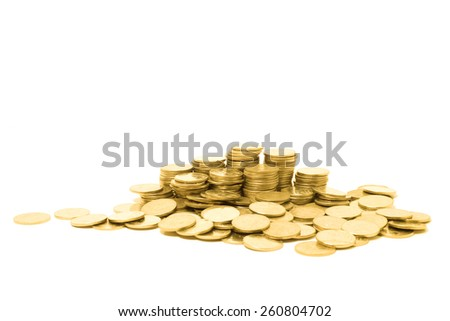 golden coin isolated on white background