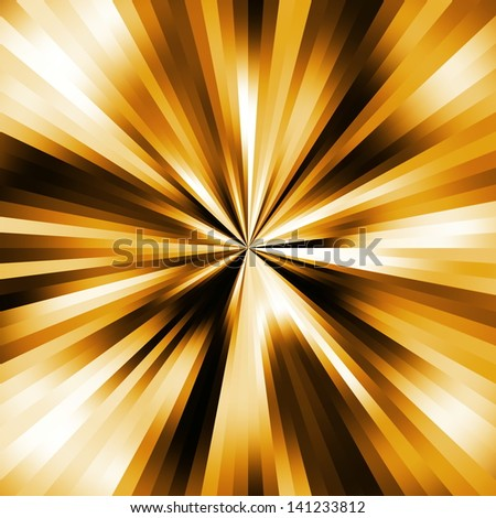 Golden colors explsion abstract. - stock photo