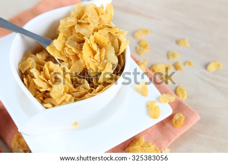 Golden Cornflakes - stock photo