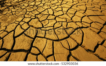 Clay soil stock images royalty free images vectors shutterstock golden crack earth dry ground surface gold brown clay soil texture sciox Images