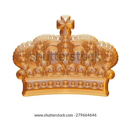 Golden crown for a king