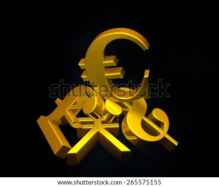 Golden Currency Euro Symbol Rising Over Stock Illustration 265575155