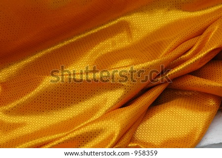 Golden curtain at a Buddhist temple in Thailand