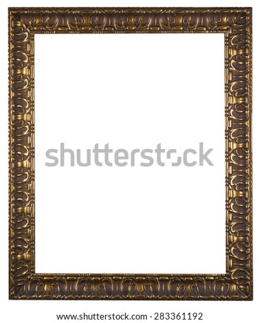golden decorative frame isolated on white