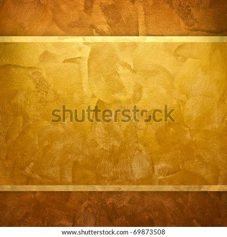 golden design background - stock photo