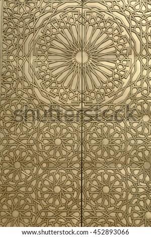 golden door detail in a house in morocco