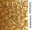 Golden dragon scale background - stock photo