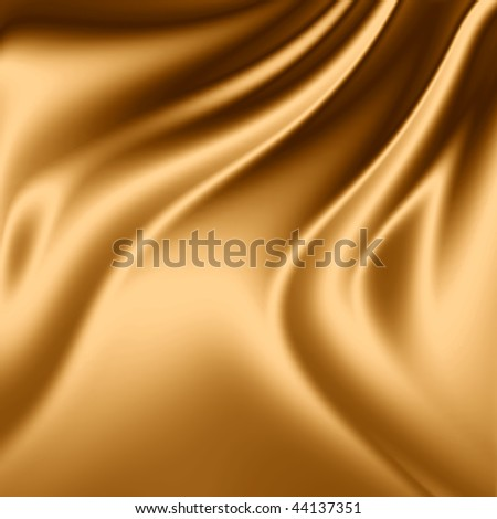 Golden drapery background - stock photo