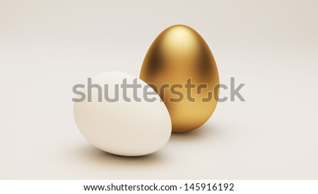 Golden Egg  - stock photo