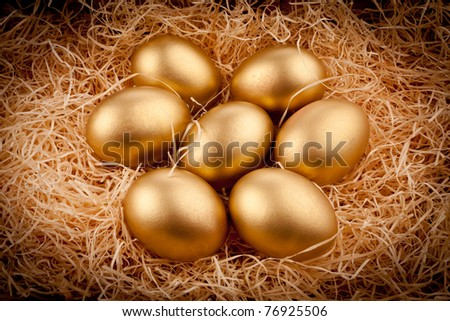 golden eggs - stock photo