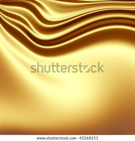 Golden fabric background - stock photo