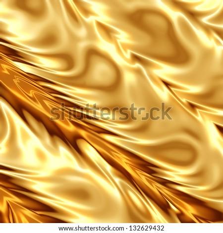 Golden fabric texture - stock photo