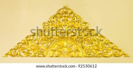 Golden flower decoration - stock photo